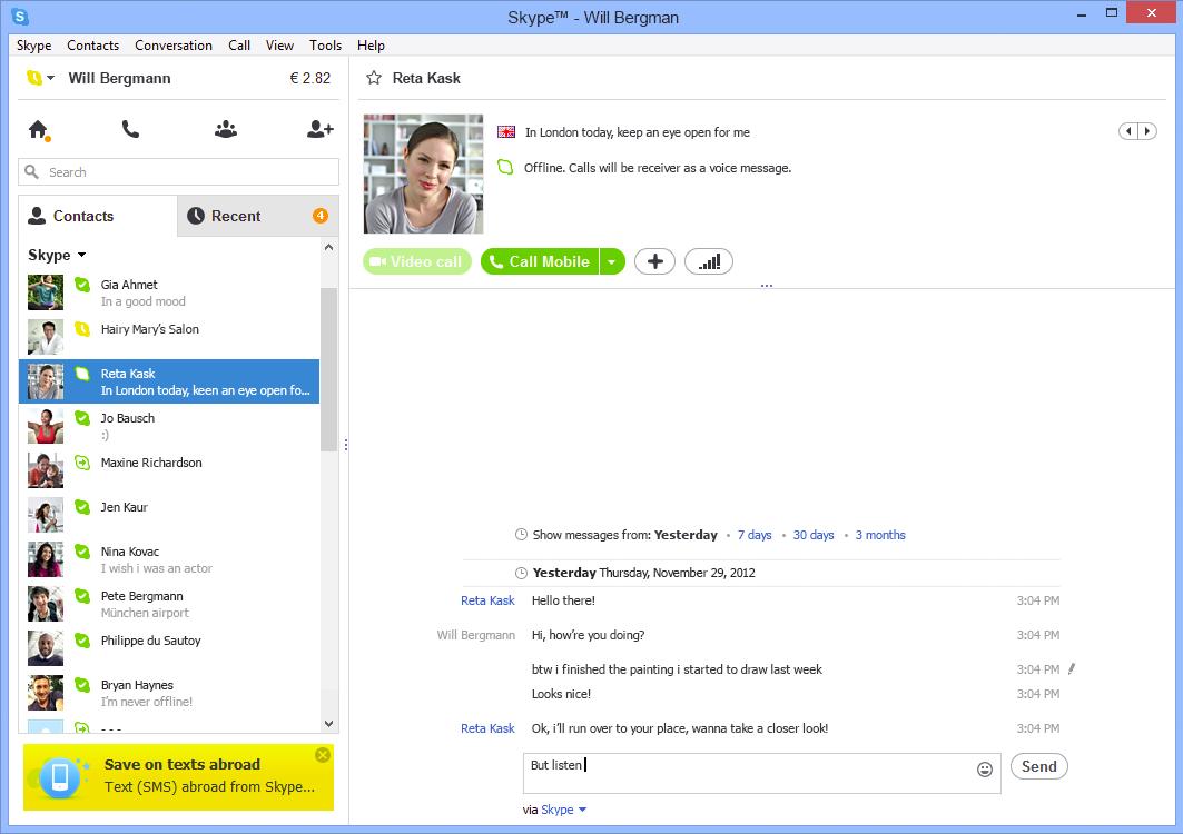 Скачать Скайп - Skype бесплатно для Windows